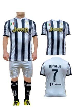 Liggo Erkek Çocuk Beyaz Juventus Ronaldo Forma Takımı