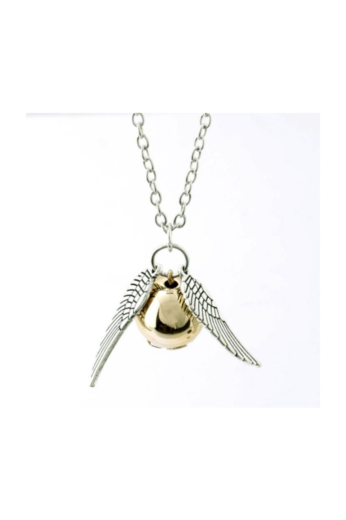 Chavin Unisex Beyaz Harry Potter The Golden Snitch Pendent Kolye 1
