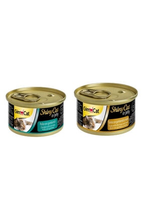 Gimcat Shinycat 10 Adet(5-tavuk Karides+5-tuna Karides Malt)konserve Kedi Mama Arda037