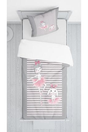 Lolla Balerin Kız Ve Tavşan Kadife Dekoratif Örtü 51