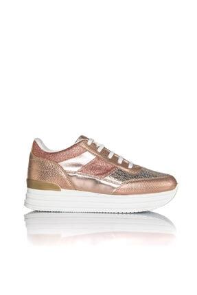 İnci Kadın Rose Vegan Baskı Bağcıklı Klasik Spor Ayakkabı -i3029