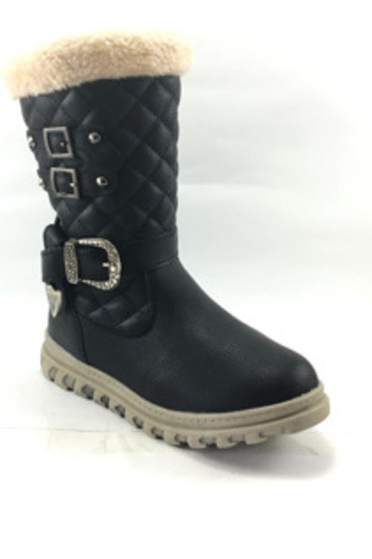Twingo Kız Çocuk Içi Kürklü Siyah Bot Ayakkabı 2
