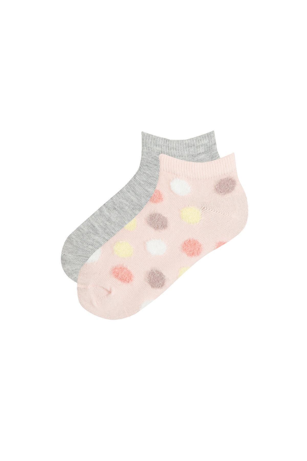 Penti Çok Renkli Kız Çocuk Momgirl 2li Patik Çorabı 1