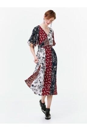 Twist Anvelop Kuşaklı Gömlek Elbise