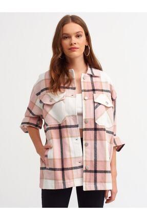 Dilvin Kadın Pembe Oduncu Gömlek