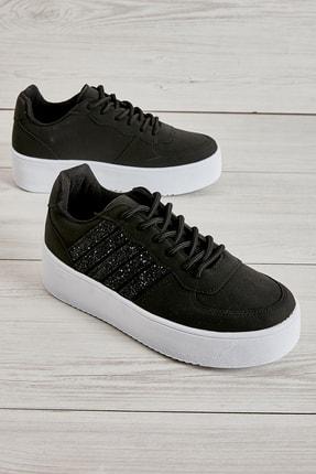 Bambi Siyah Nubuk Kadın Sneaker L0591120771