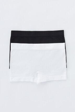 Penti Siyah - Beyaz Teen Seamless Basic 2li Boxer