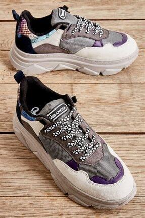Bambi Mor Kadın Sneaker L06019143