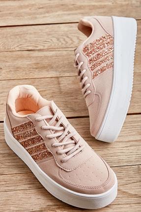 Bambi Pudra Nubuk Kadın Sneaker L0591120771