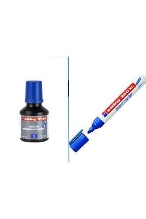 Edding Bt30 Tahta Kalemi Mürekkebi+360xl Doldurulabilir Tahta Kalemi