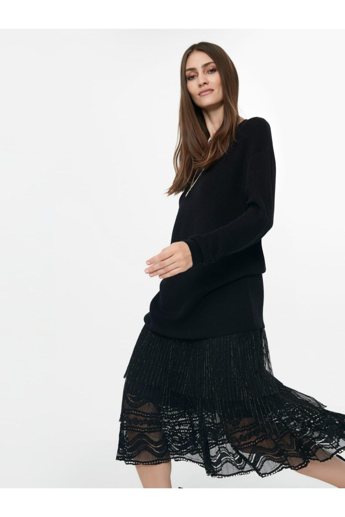 İpekyol Pilisole Etekli Triko Elbise 1