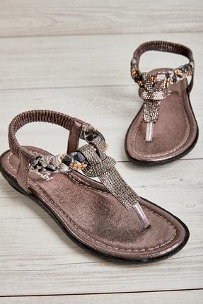 Bambi Platin Kadın Sandalet L0625011778