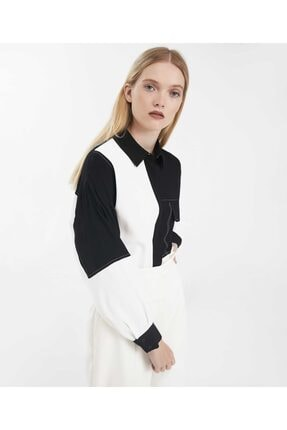 İpekyol Color Block Gömlek