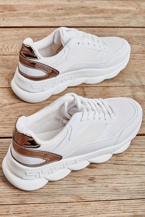 Bambi Beyaz Kadın Sneaker L0591138809