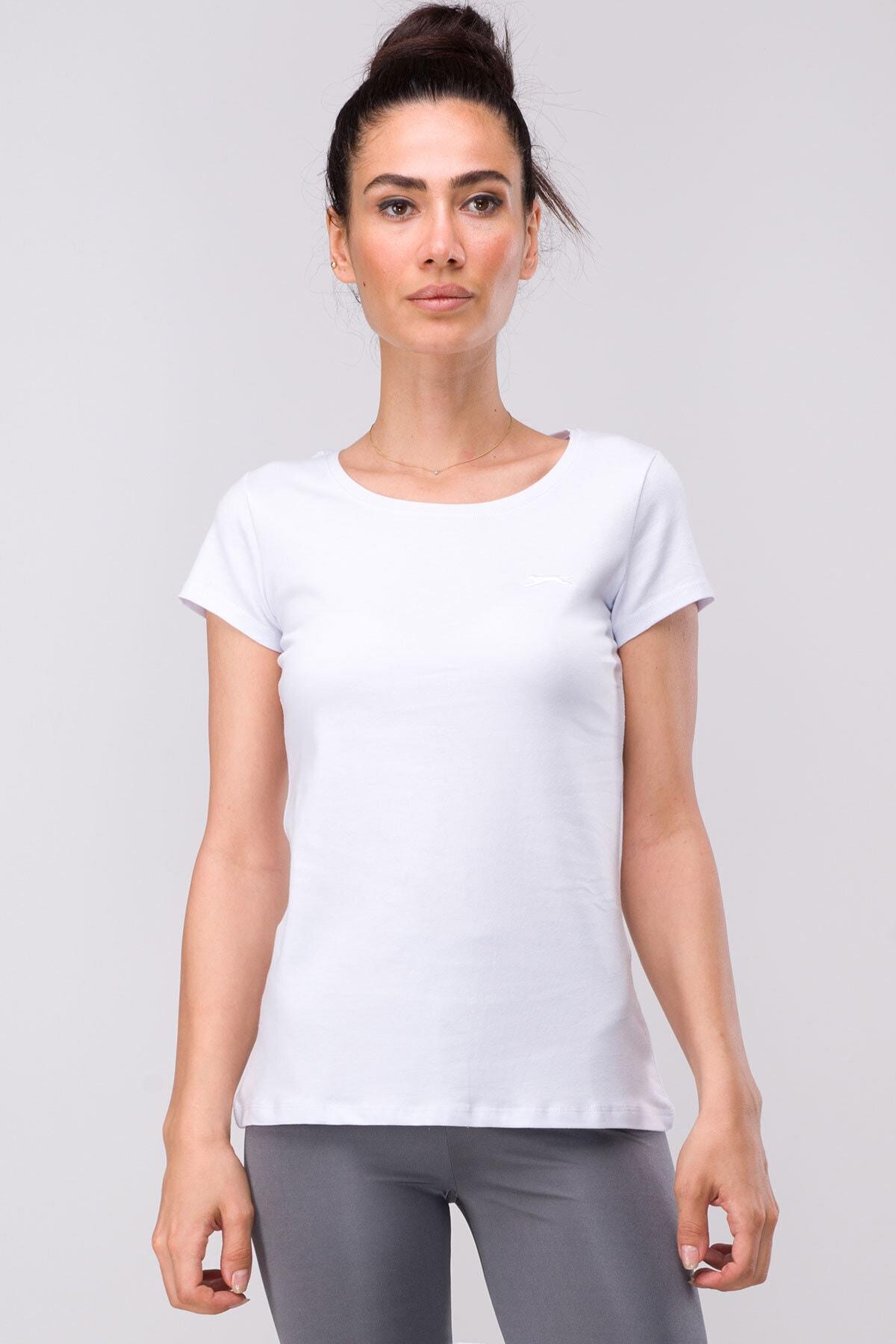Slazenger Sıena Kadın T-shirt Beyaz 1