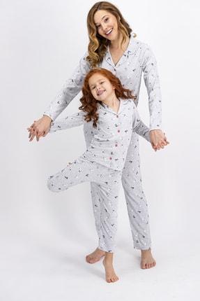 ROLY POLY Rolypoly Karamelanj Little Cats Kadın Gömlek Pijama Takımı