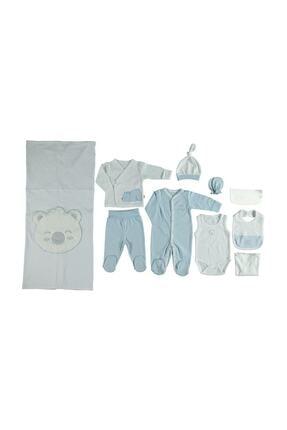 Bebetto Erkek Bebek 10'lu Hastane Çıkış Seti Mavi Z654
