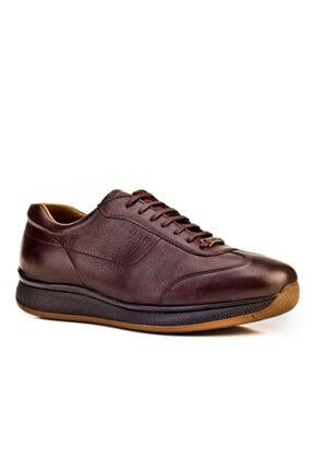 Cabani Bağcıklı - Erkek Ayakkabı Kahve Flap Deri