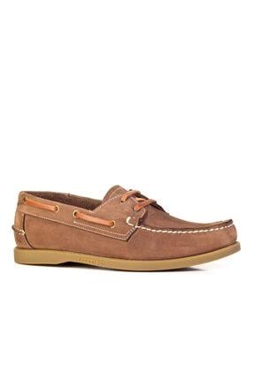 Cabani Marin Tekne (Boat Shoes) - Kadın Ayakkabı Yeşil Nubuk