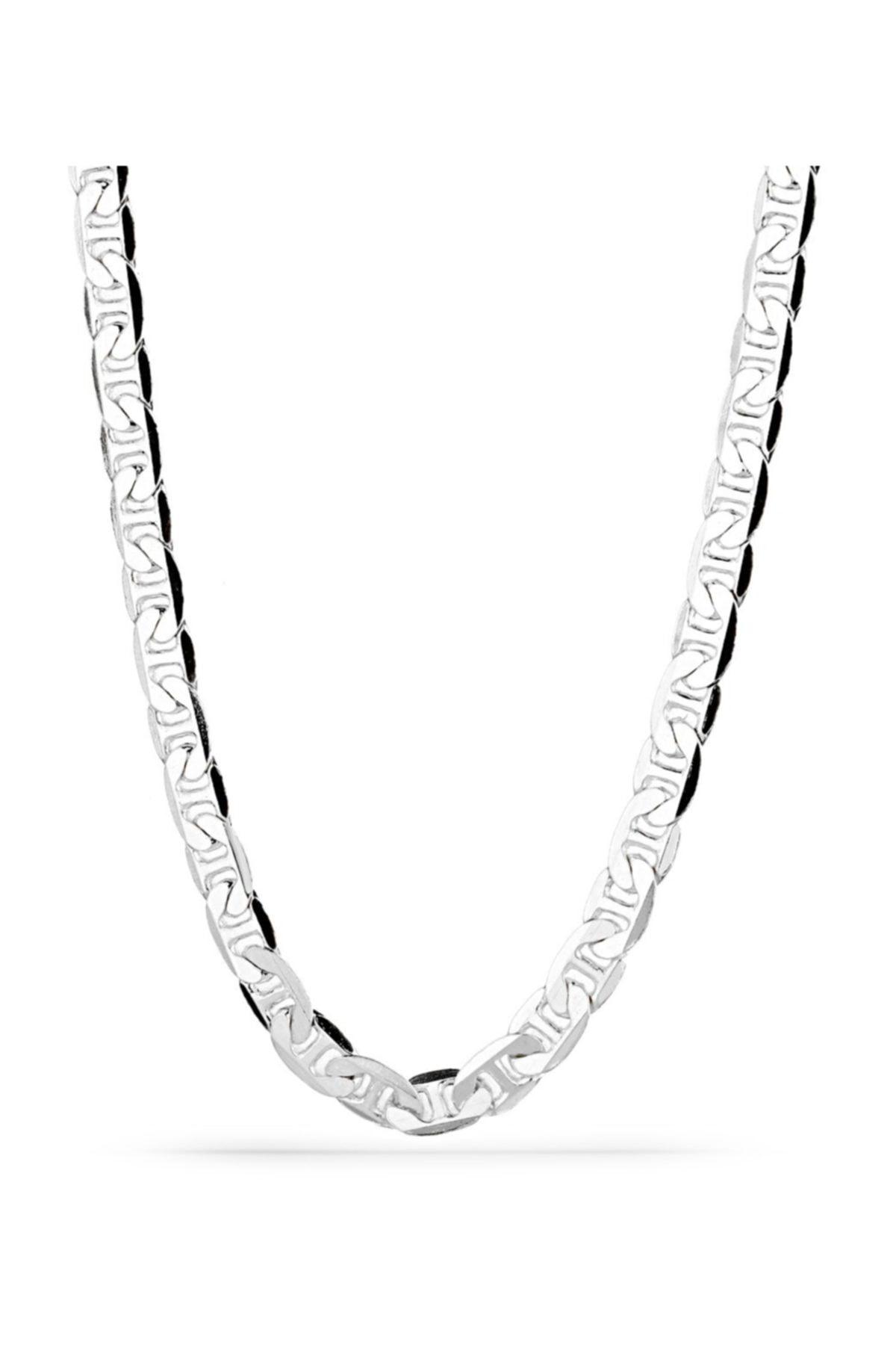 MySilvers Klasik Gümüş Erkek Zinciri Erkek Rodyum 1