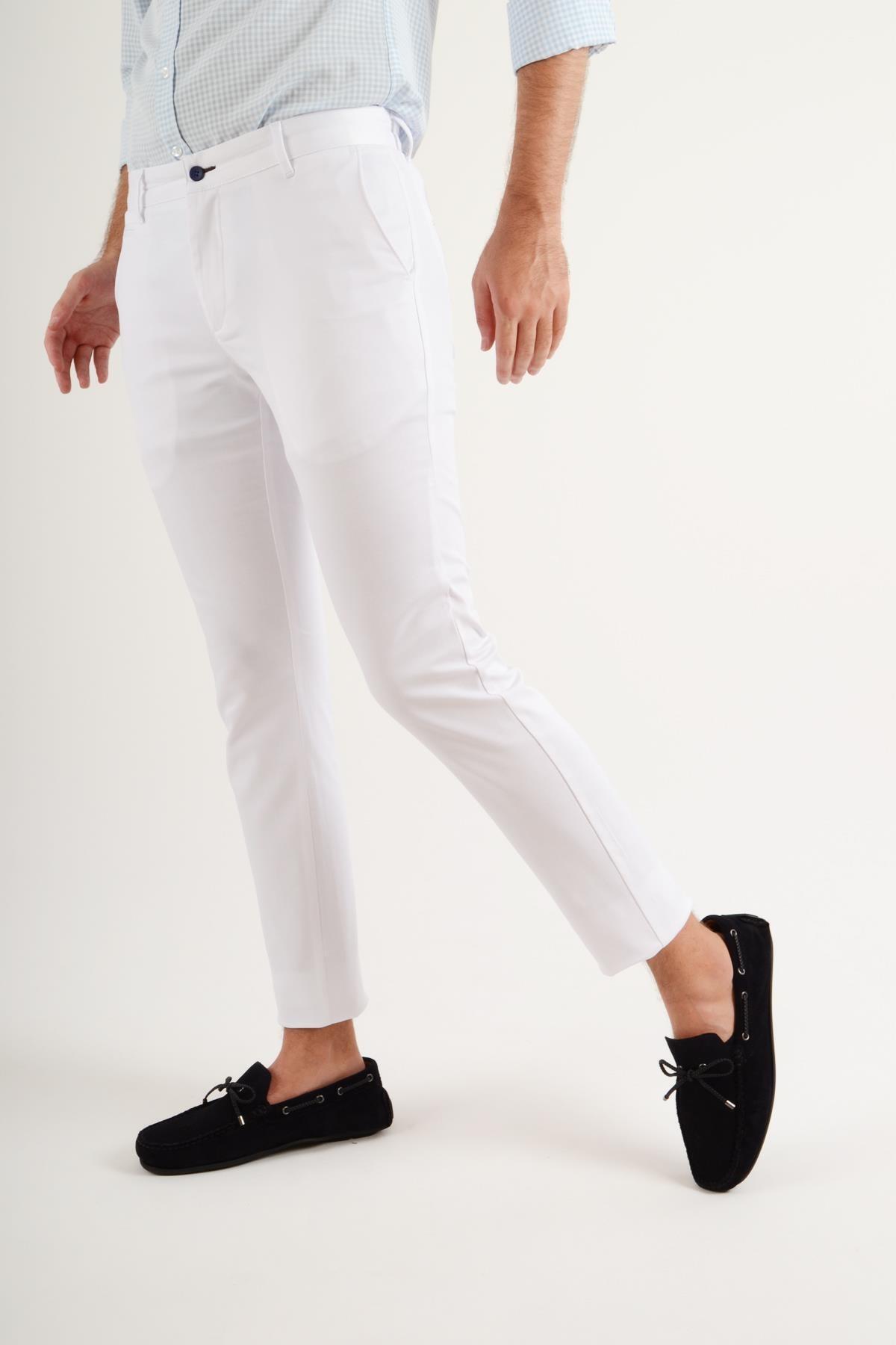 Luppo Club Günlük Kumaş Beyaz Erkek Pantolon Salacak 1