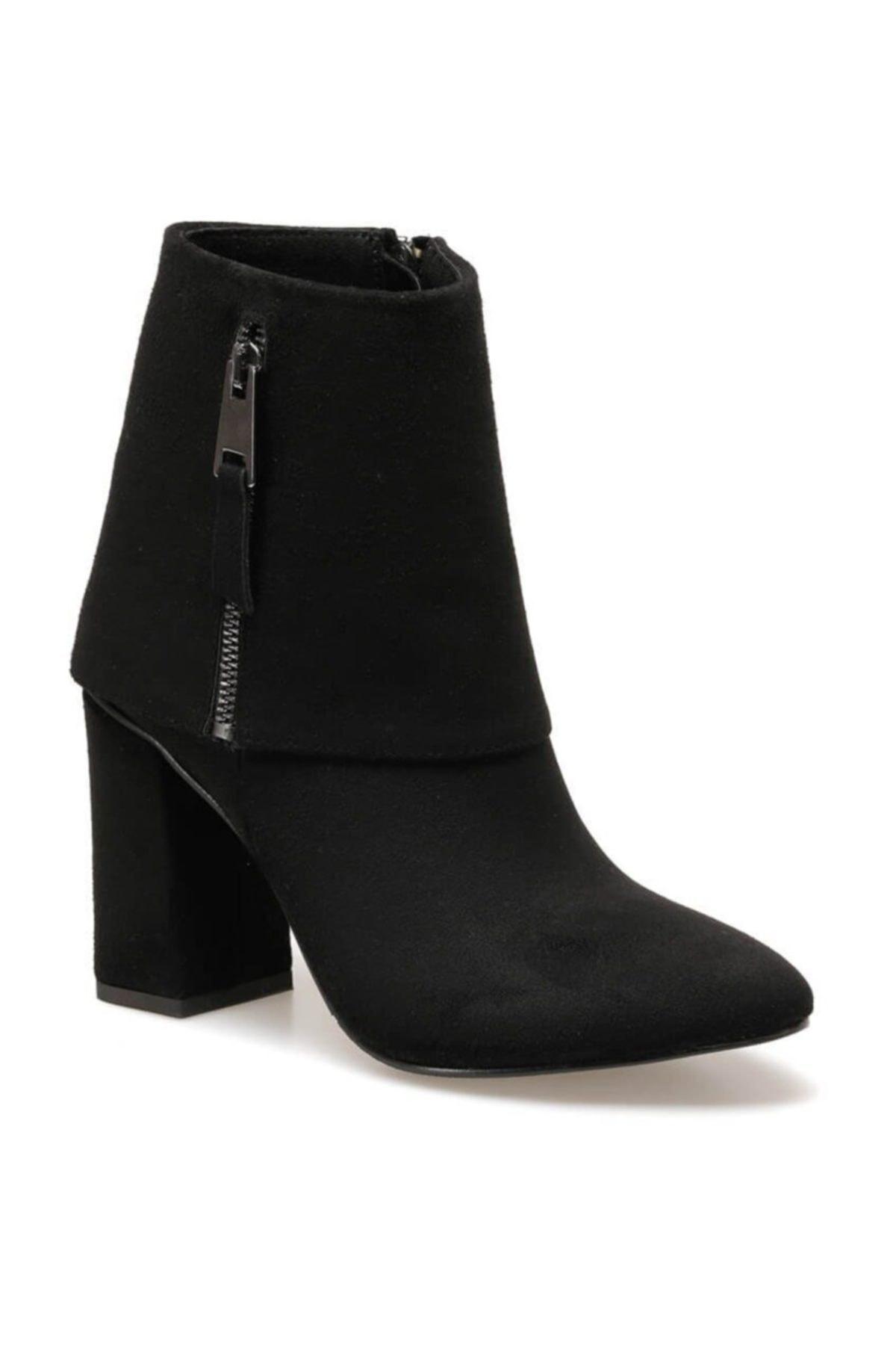 Butigo FLORDIA Siyah Kadın Topuklu Bot 100523435 1