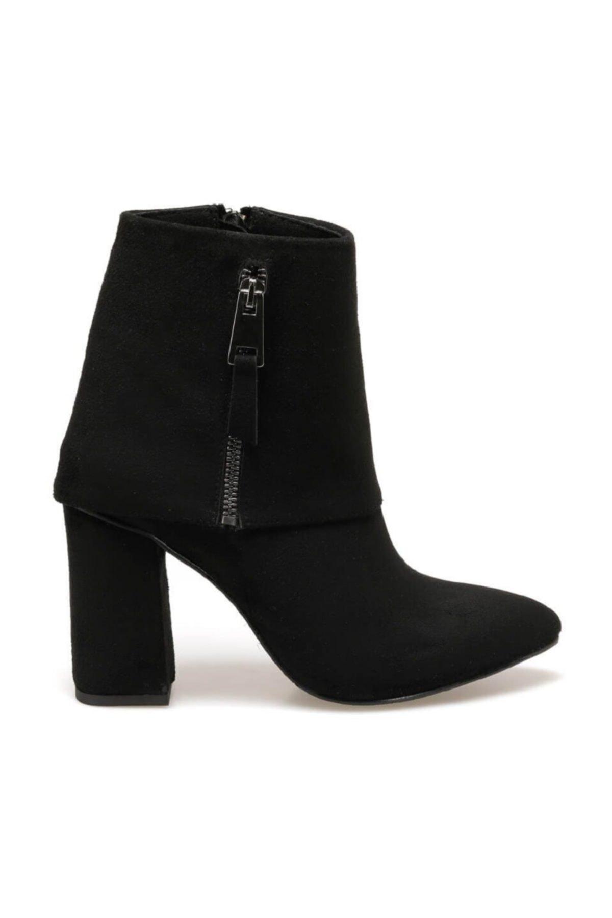 Butigo FLORDIA Siyah Kadın Topuklu Bot 100523435 2