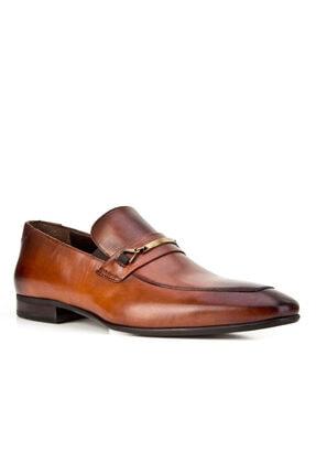 Cabani Kemer Detaylı Klasik Erkek Ayakkabı Kahve Sanetta Deri