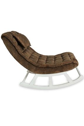 Asedia Miskin Beyaz-kahve Sallanan Sandalye