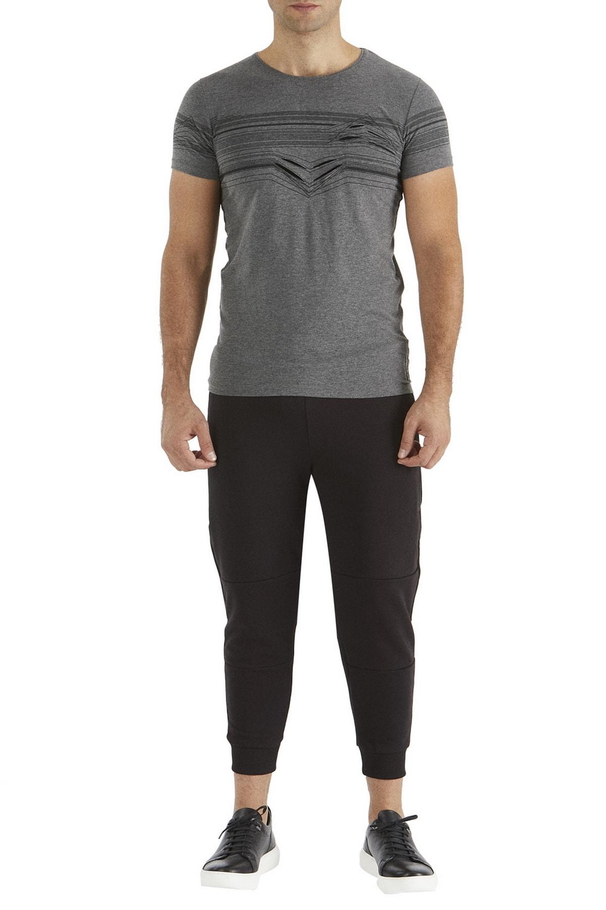 Efor Atp 01 Rahat Kesim Siyah Spor Pantolon 1