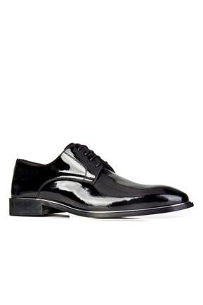 Cabani Bağcıklı Damatlık Erkek Ayakkabı Siyah Rugan
