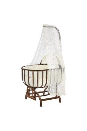 Baby Tech Saraylı Ceviz Ahşap Sepet Beşik