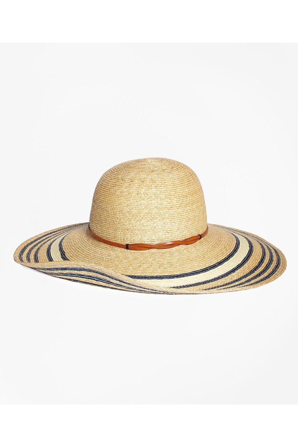 BROOKS BROTHERS Kadın Bej Hasır Şapka 2