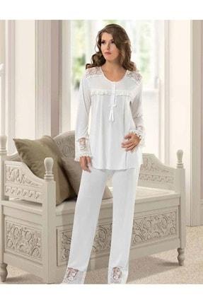 Xses 2130 Penye Pijama Takımı - - Ekru - S