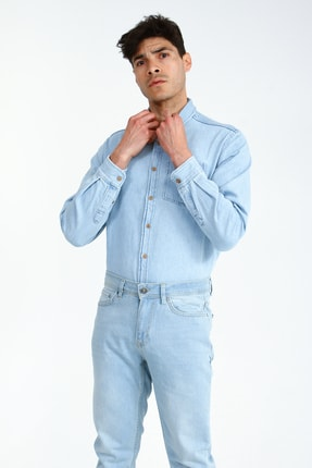 Collezione Açık Mavi 5 Cep Erkek Denim Pantolon