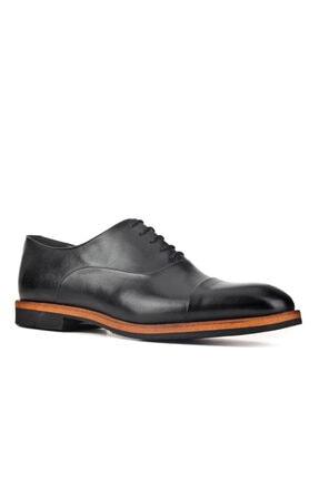 Cabani Oxford Hafif Light Tabanlı Bağcıklı Klasik Erkek Ayakkabı Siyah Antik Deri