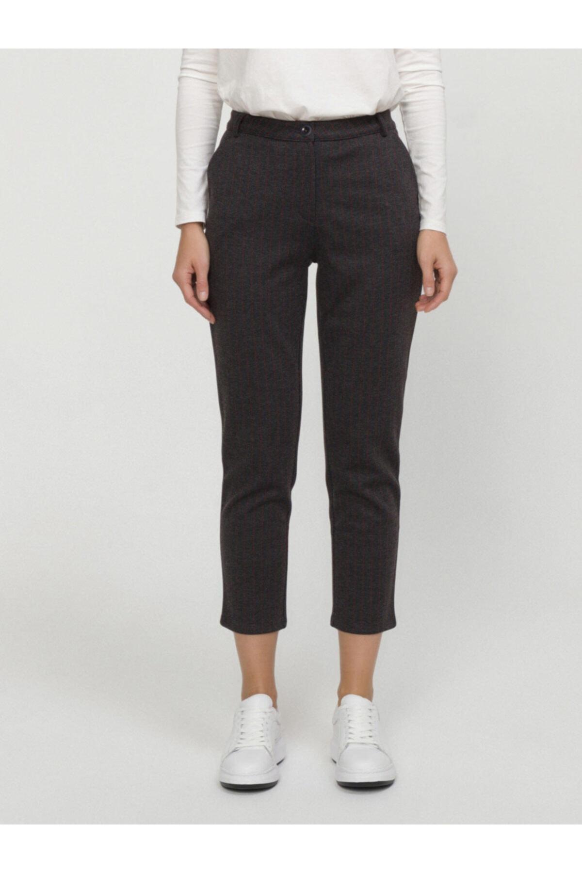 Xint Xınt Normal Bel Rahat Kesim Çizgili Pantolon 1