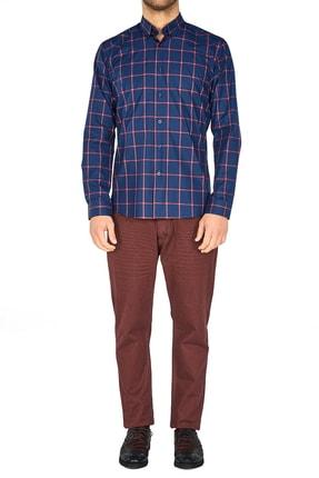 Efor P 1025 Slim Fit Bordo Kanvas Pantolon