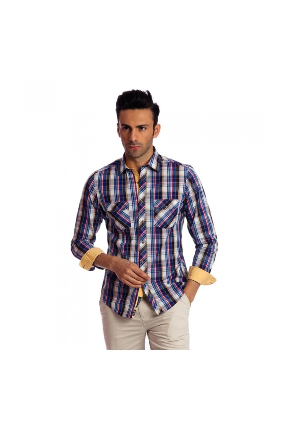 Karaca Erkek Slim Fit Casual Gömlek Sari 1