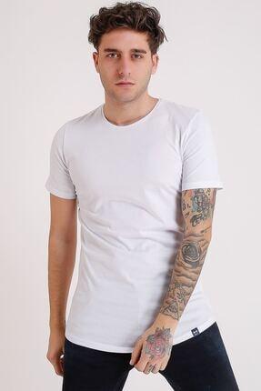 LTC Jeans Bisiklet Yaka Basic Oval Kesim Beyaz Erkek T-shirt