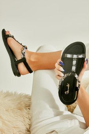 Bambi Siyah Kadın Sandalet L0625010278