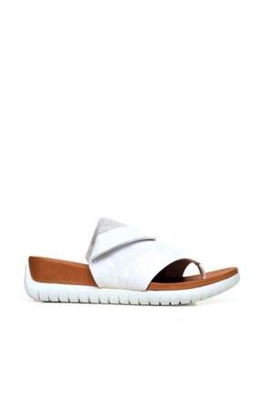 BUENO Shoes Parmak Arası Hakiki Deri Kadın Düz Terlik 9n7106