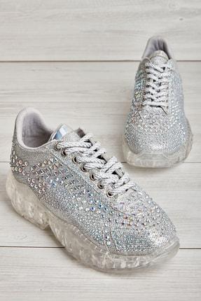 Bambi Gümüş Kadın Sneaker L0639181087