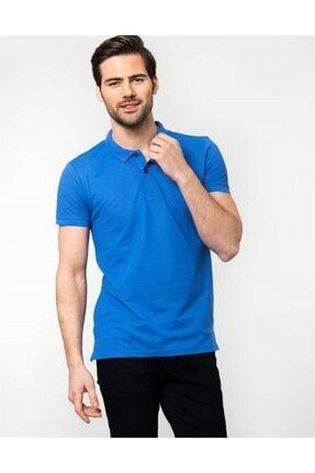 Tudors Slim Fit Polo Yaka Mavi Erkek T-shirt