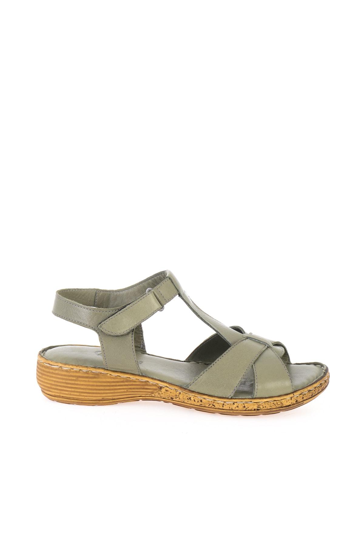 Bambi Hakiki Deri Haki Kadın Sandalet K05809926803 2