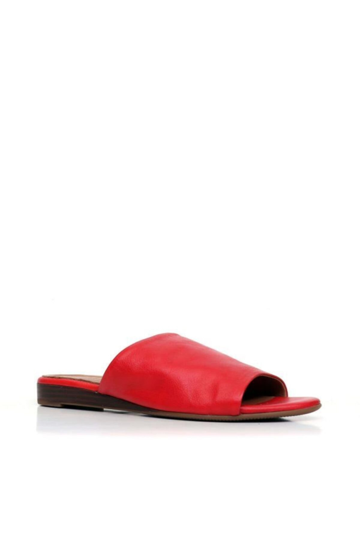 BUENO Shoes Lastik Detaylı Hakiki Deri Kadın Düz Terlik 9n1901 2