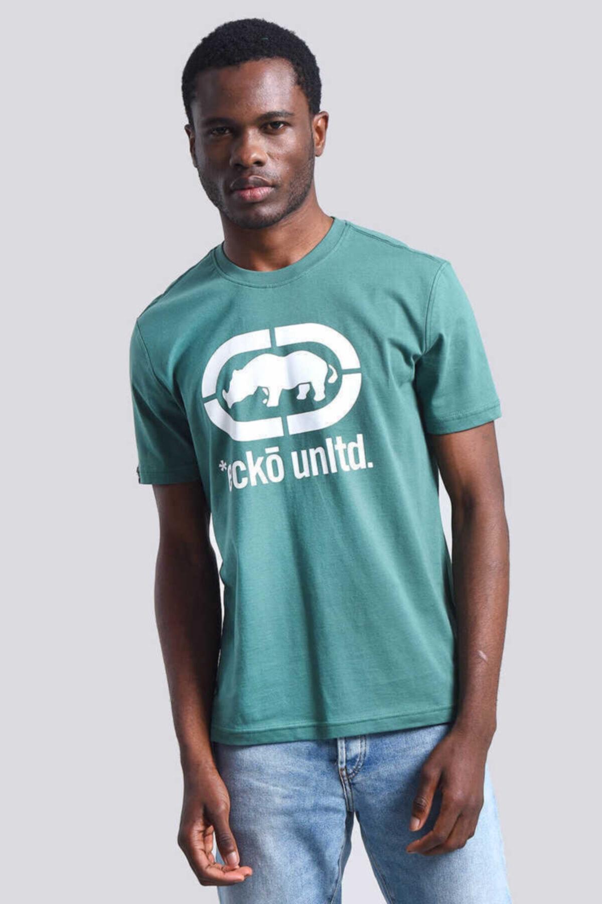 ECKO UNLTD Logo Tee Yeşil Erkek Baskılı Bisiklet Yaka T-shirt 1