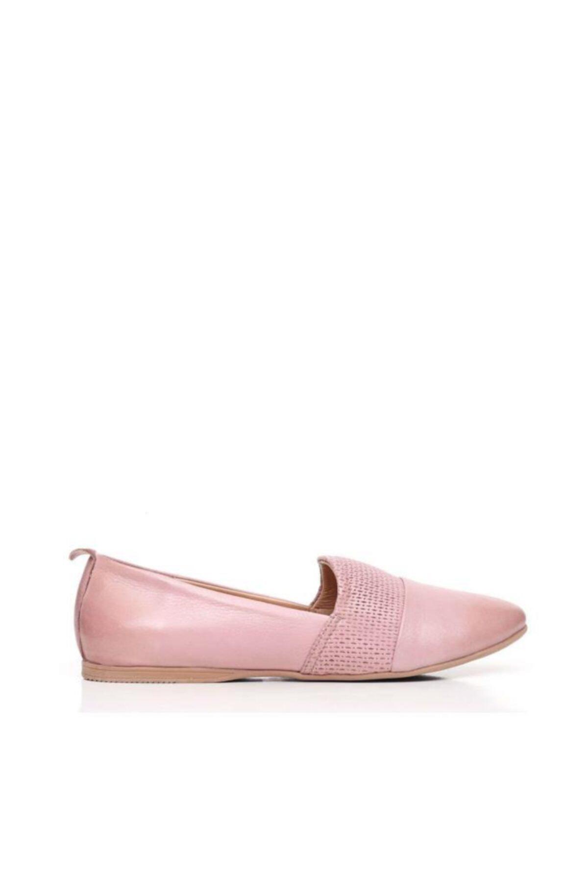 BUENO Shoes Önden Desenli Hakiki Deri Kadın Babet 9n0700 1