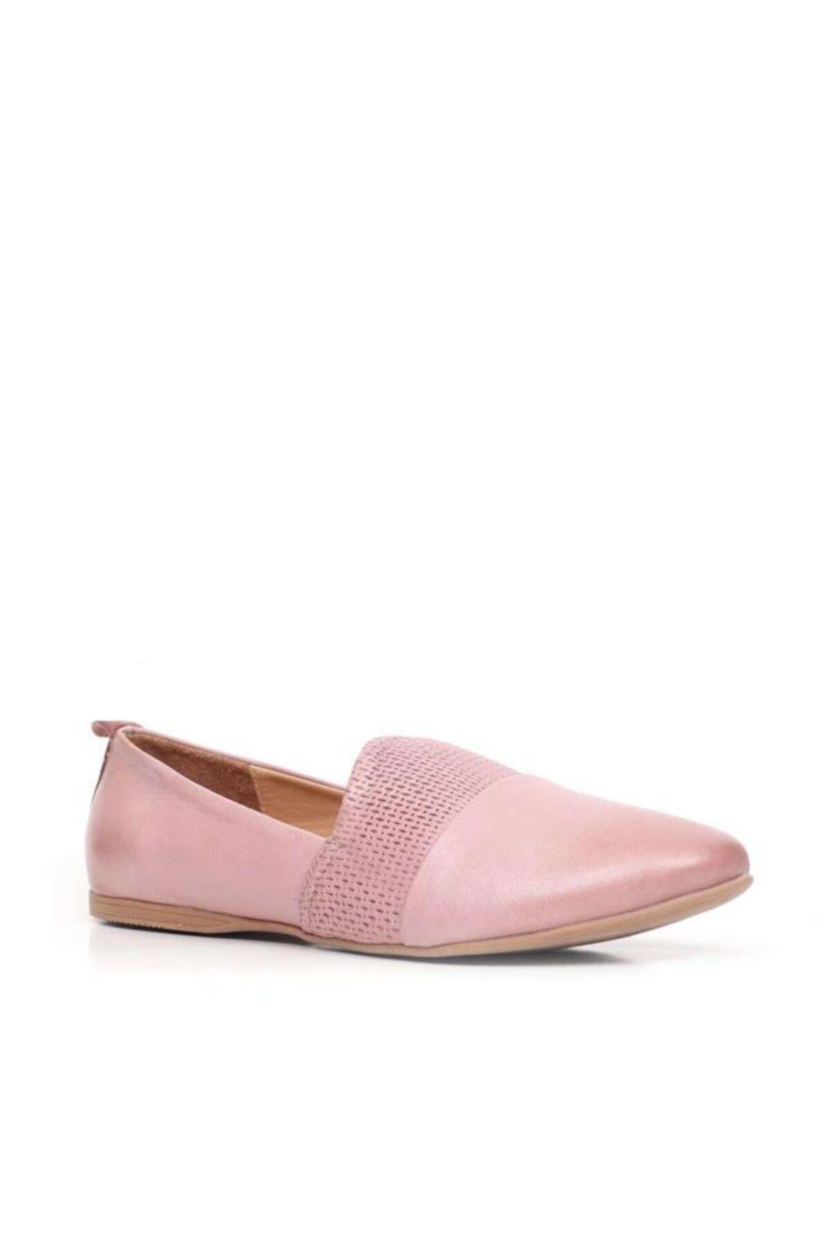 BUENO Shoes Önden Desenli Hakiki Deri Kadın Babet 9n0700 2