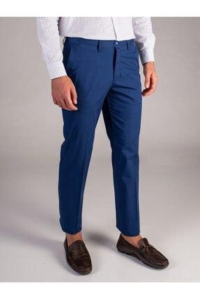 Dufy Indigo Düz Sık Dokuma Erkek Pantolon - Regular Fıt